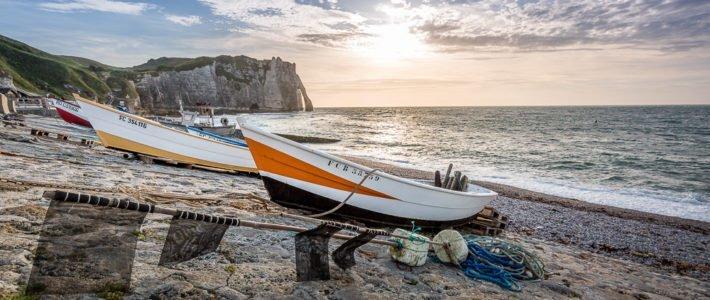Bilder aus Etretat – Der wohl bekannteste Teil der französischen Kreideküste