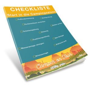 Checkliste Start in die Campingsaison - 3D Mockup Cover