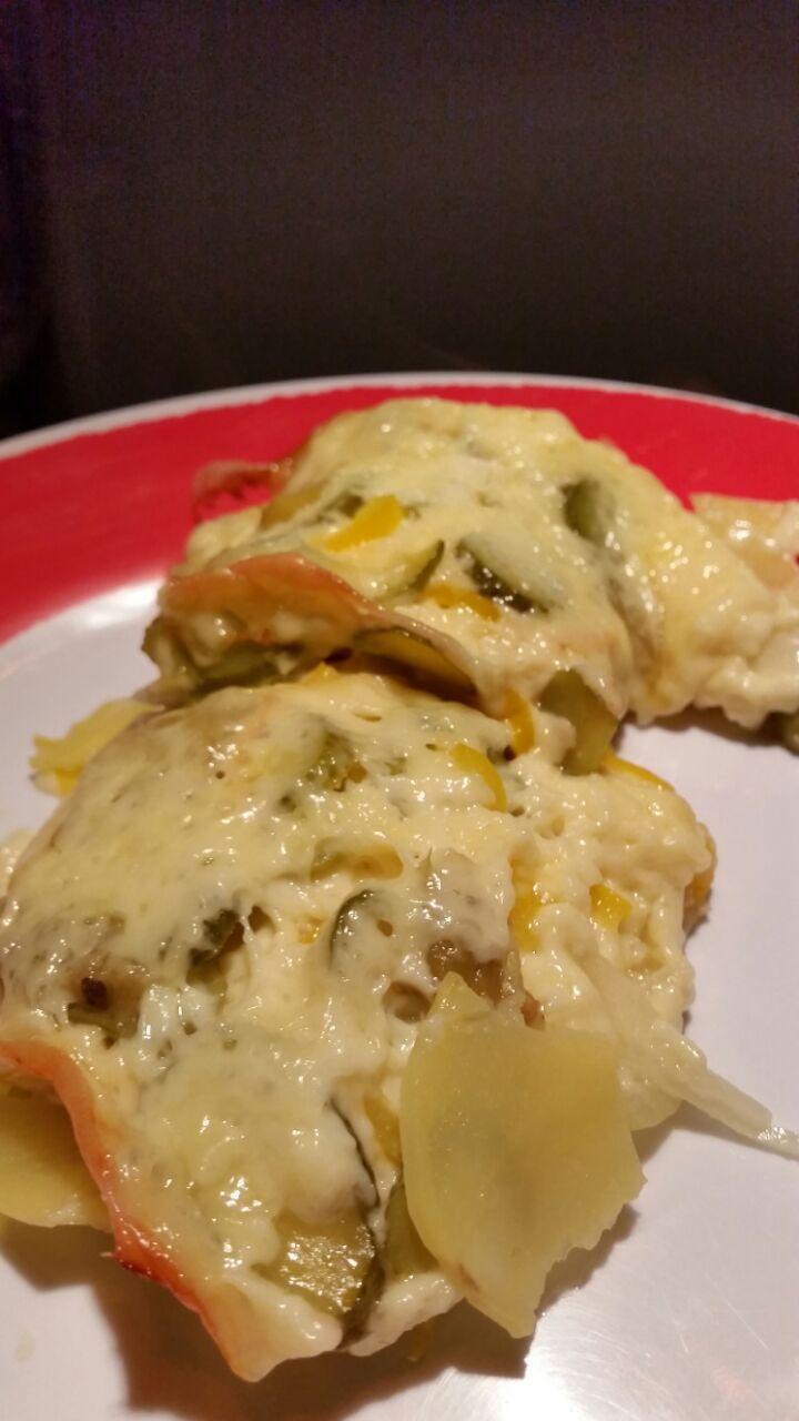 Raclette überbacken Teller