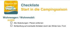 Beitragsbild Checkliste Start in die Campingsaison