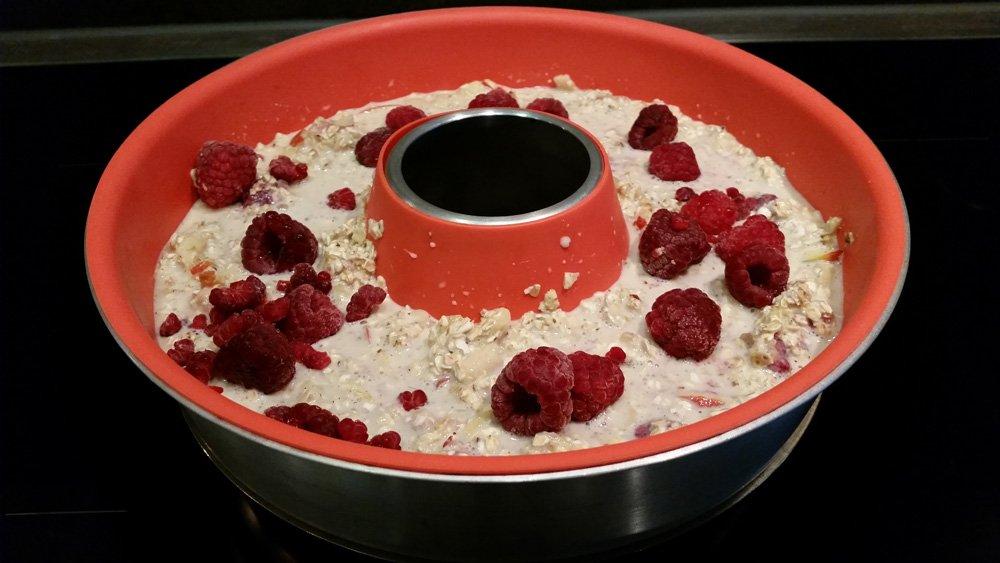 Gebackenes Oatmeal Foto in der Omnia Backform