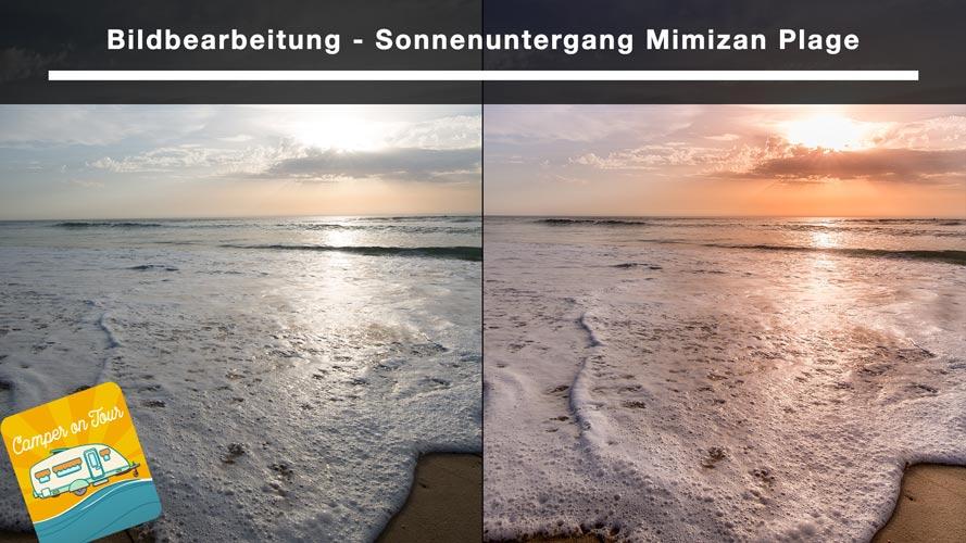 Bildbearbeitung - Sonnenuntergang Mimizan Plage 2