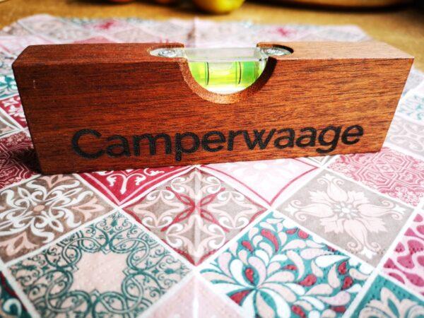Wasserwaage mit Schriftzug Camperwaage